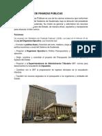 Ministerio de Finanzas Publicas
