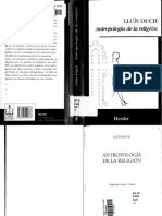Antropología de La Religión - Lluis Duch