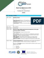 Agenda Forum Marea Neagra