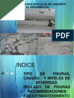 Sello de Fisuras en Placas de Concreto de Aeropuertos