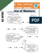 Ficha de Adivina El Numero Para Segundo de Primaria