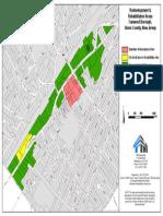 Fanwood Downtown Rehabilitation Area Map