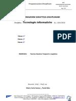 Programmazione 2015 2016 Tecnologie Informatiche