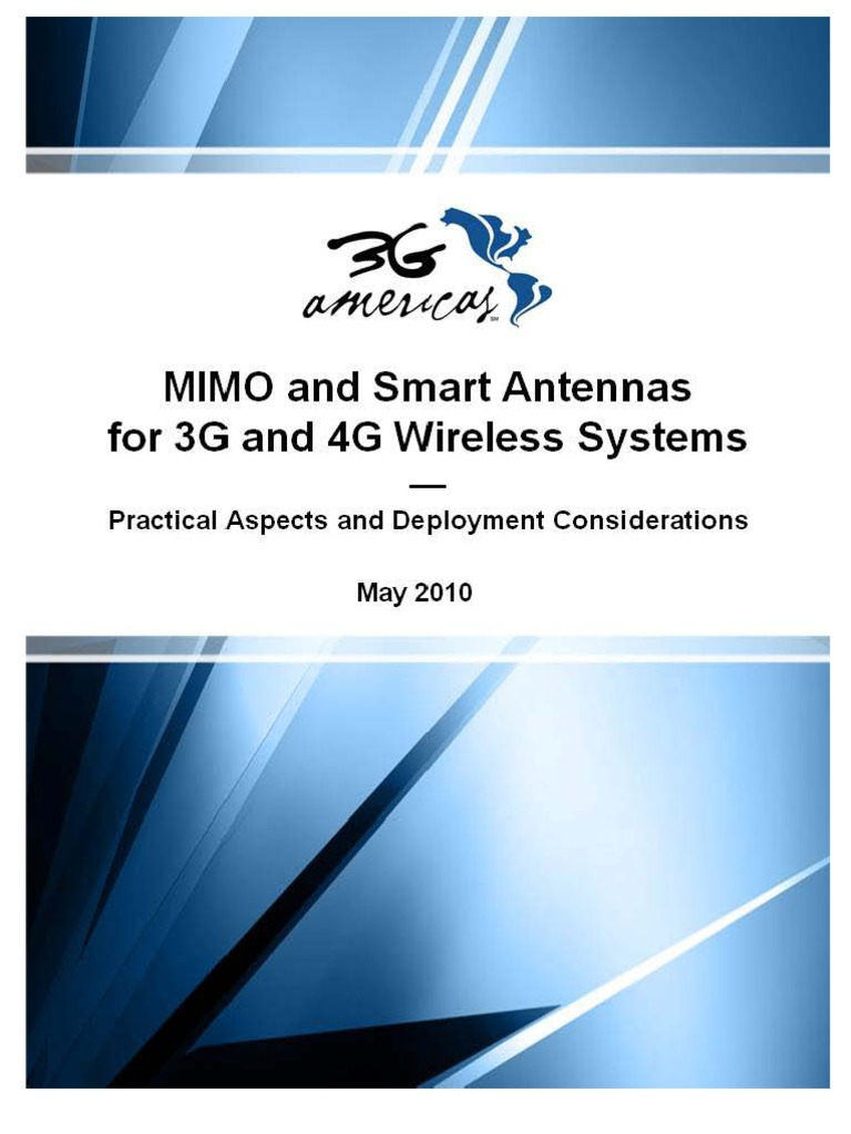 Ppt on smart antennas - Mimo And Smart Antennas For 3g And 4g Wireless Systems May 2010 Final Mimo Antenna Radio