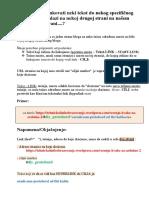 Kako Hiperlinkovati Tekst Do Mesta Sadrzaja Druge Strane u Blogu