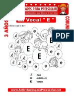 La Vocal E Para Niños de 3 Años (1)