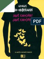 Didi-Huberman Georges, ¡Qué Emoción! ¿Qué Emoción