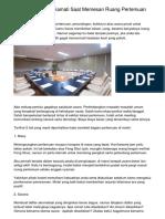 5 Hal yang Perlu Diamati Saat Memesan Ruang Pertemuan di Hotel