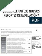 Como Llenar Reportes De Evaluacion