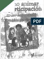 Como Animar La Participacion en Actividades Grupales
