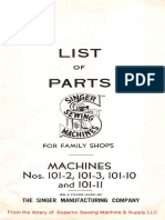 Parts Manual for Singer 2