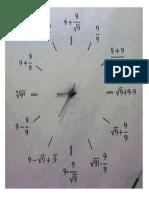 Reloj Con Potencias y Raiz Cuadrada