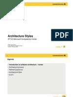 Architectur 2 Architecture Styles