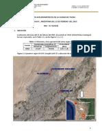 Informe Sismo 11 Febrero 2015