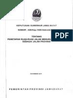SK Gub Status Jalan Provinsi Jawa Barat