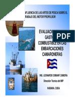 Evaluacion de Gastos de Combustible en Embarcacion Pesquera