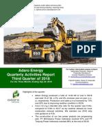 Adaro Energy Quarterly Activities Report Third Quarter of 2018