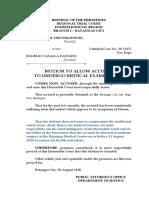 Motion to Undergo Medical Examination Faltado