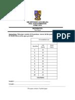 Final Year Exam Math Form 2