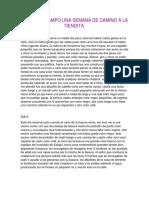 Diario de Campo Una Semana