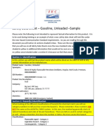 Safety Data Sheet Training Form