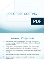 Chapter 5- Job Order Costing