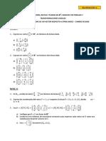 Matemática Básica Coordenadas de Un Vector Respecto a Otras Bases