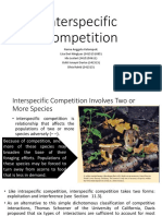 Interspecific Competition Lisa Ida Ockti Rahid
