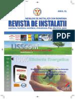 Revista de Instalatii, sanitare incalzire ventilare climatizare frig electrice gaze nr 01 din 2018
