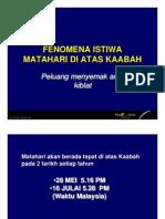 ISTIWA MATAHARI KAABAH