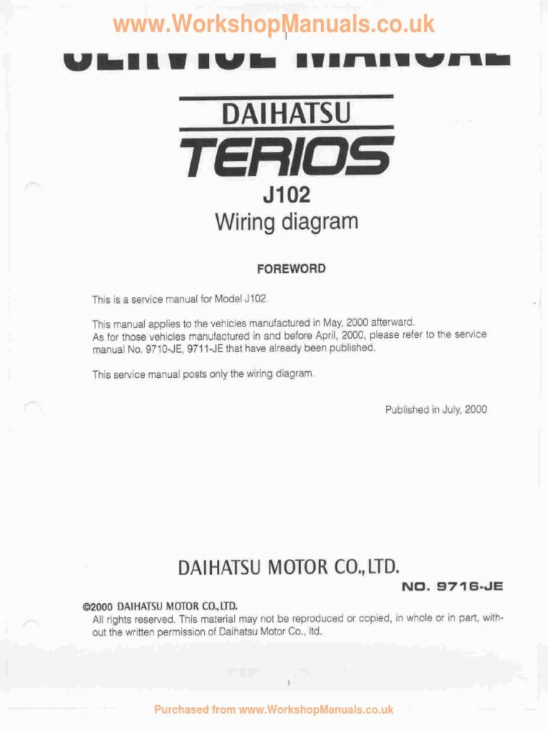 Daihatsu Terios Wiring Diagram Library Mira Forewordpdf
