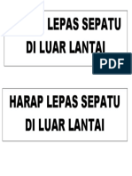 HARAP LEPAS SEPATU