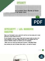 Integrity-Lal Bahadur Shastri