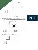 Area and Perimeter Test - Grade 4