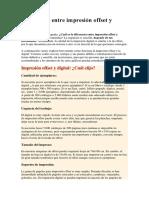Diferencias Entre Impresión Offset y Digital