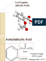 Synthesis of Aspirin (Acetylsalicylic Acid)