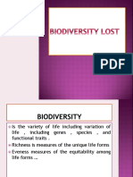 Biodiversity Lost