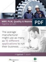 MRP PLM Quality & Maintenance