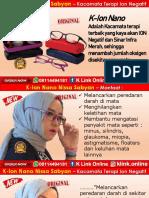 Kacamata Nissa Sabyan K ion Nano Di Yogyakarta WA 08114494181