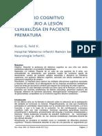 1 Deterioro Cognitivo Secundario a Lesión Cerebelosa en Paciente Prematura