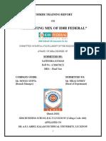 Marketing mix of IDBI federal.doc