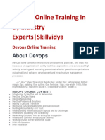 Devops Online Training in by Industry Experts |Skillvidya