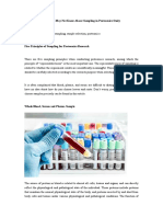 What You May Not Know About Sampling in Proteomics Study