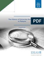 The History of University Autonomy in Malaysia