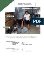 Fogones Tradicionales y Mejorado Para La Fabricación de Chicha en La Panamericana El Tallan