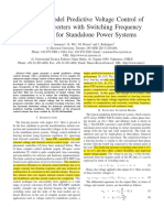 Enhanced Model Predictive Voltage Control of Four-Leg Inverters With Switching Frequency Reduction for Standalone Power