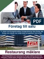 Företag och restauranger till salu - Företagsmäklare Stockholm