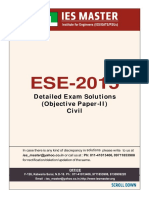 Explanation of Civil Engg. Objective Paper II (ESE 2015)