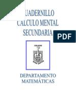 Cuadernillo Calculo Mental Secundaria