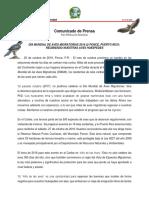 COMUNICADO PRENSA World-Migratory-Bird-Day-2018 Ponce PR [Punta Cucharas] (1)